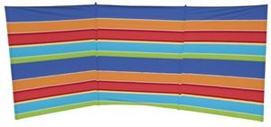 Eurotrail windschutz Beach 3 flach 375 x 150 cm Polyester/Stahl