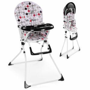 Froggy Baby Kinder Hochstuhl mit Sicherheitsgurt und Großem Esstisch, Zusammenklappbar, Kreise