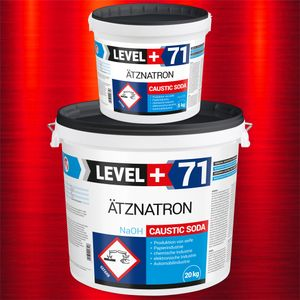 25kg RM71 Ätznatron, kaustisches Soda NaOH, Natriumhydroxid 2 EIMER 20kg+5kg