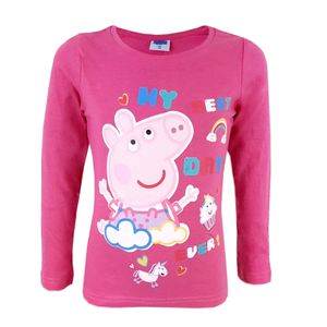 Peppa Wutz Kinder langarm T-Shirt Pink Baumwolle Gr. 104