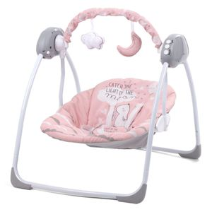 Elektrische Babywippe Babyschauke Schaukelstuhl für Babys und Kleinkinder LUPO PINK KIDWELL