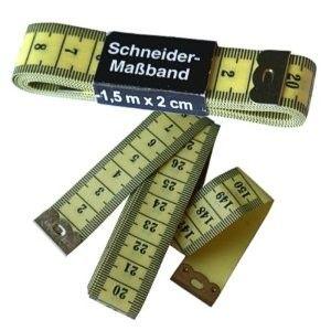 150cm Maßband, Schneiderrei Messband - weiches Bandmaß - zweiseitig bedrucktes weißes Körpermaßband 1,5m