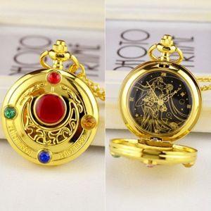 Haushele OFD Taschenuhr Sailor Moon Wings Taschenuhr Angel Wings Variety Sakura Taschenuhrenkollektion Geschenke gestalten -H03