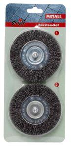 Grizzly Tools Elektrische Fugenbürste 2er Set Metall EFB 400 und 401