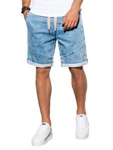 Ombre Herren Jeans Chino Shorts Kurzhose Kurze Hose Bermuda Slim Fit Sommer Freizeit  Elegant 5 Farben S-XXL W219 Hell Jeans XL