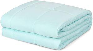 Goplus Gewichtsdecke aus Baumwolle, Schwere Decke Anti-Stress, Schwerkraft-Decke Gruen, Beschwerte Decke fuer Erwachsene und Kinder, Therapiedecke Modell 2