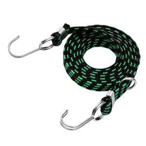 Stretch Cord Lailgage Strap Rope Tie Elastic mit Haken für Bungee Van Farbe Grün 3m