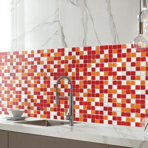 badezimmer küche abnehmbare mosaik fliesen tapeten aufkleber diy wohnkultur 001 20x500cm