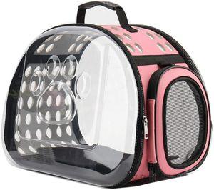 Tragetasche für Katzenhunde und andere Haustiere Leichte, atmungsaktive Handtasche mit Schultergurt für Reisen Tragbare Haustiertasche Tragetaschen für Flugzeugzugwagen