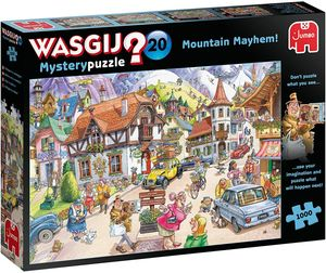 JUMBO 25002 Wasgij Mystery 20 - Idylle in den Bergen! 1000 Teile Puzzl