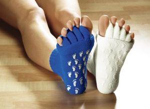 YOGA Socken Blau Größe 37-41