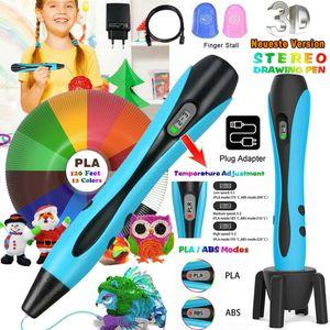 Melario 3D Druck Stift Stereoscopic Printing Pen 12 Farben PLA ABS für Kinder Erwachsen