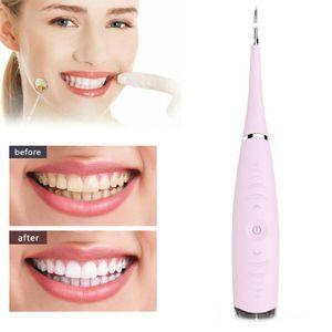 Zahnsteinentferner, Ultraschall-Zahnreinigungsgeräte, tragbarer 5-Gang-Dental Cleaner mit USB-Antrieb (Rosa)