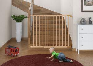 90.90-99 Türschutzgitter Treppenschutzgitter Türgitter Buche massiv Kindersicherung 70-108 cm