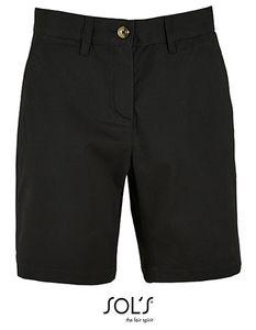 SOLS Damen Shorts Chino Bermuda Jasper 02762 Schwarz Black 38