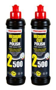 2x MENZERNA Medium Cut Polish 2500 Schleifpolitur Politur Schleifpaste 250 ml