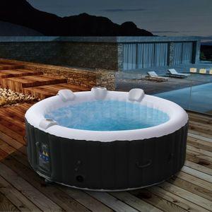 AREBOS In-Outdoor Whirlpool Spa Pool Rund   6 Personen   Massagedüsen - direkt vom Hersteller