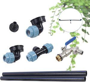 IBC Verbindungsset aus Kunststoff IBC Tank-Adapter für 2 Regenwassertanks Nebeneinander