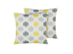Gartenkissen 2er Set bunt 45 x 45 cm aus Polyester mit Punktemotiv Quadratisch Garten/ Balkon /Terrasse modernes Design