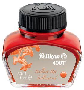 Pelikan Tinte 4001 im Glas rot Inhalt: 30 ml