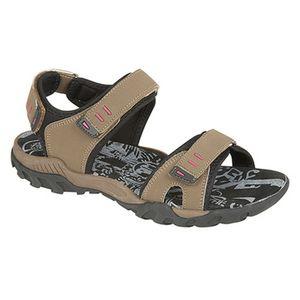 PDQ Damen Sport Sandale / Trekkingsandale mit Klettverschluss DF437 (5 UK/38 EU) (Taupe)