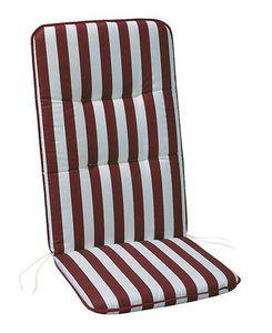 BEST Niederlehnerauflage l Gartenstuhl l 100x50x6cm l Rot Weiß