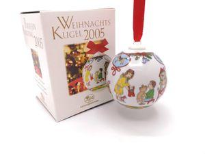 Porzellankugel Weihnachtskugel 2005 - Hutschenreuther - in