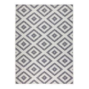 Wendeteppich Malta Grau Creme In- & Outdoor, Größe:80x150 cm