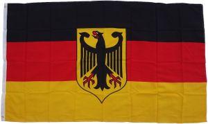 Flagge Deutschland mit Adler 90 x 150 cm -  Fahne- reißfest - rissfest - Hissfahne- Hissflagge - Sturmflagge -zum hissen