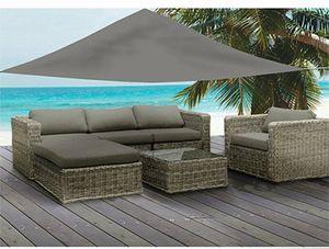 Sonnenschutz GRAU 3,6 x 3,6 Meter Sonnensegel UV Blocker Sonnenschirm Terrasse Garten Grau