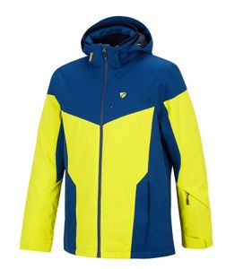 Ziener Herren Wintersport Skijacke Ski-Jacke Winterjacke TOCCOA man gelb blau, Größe:52