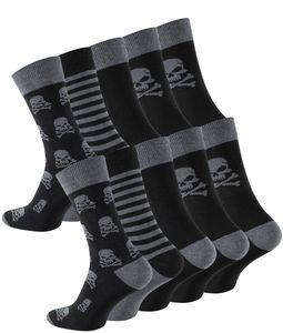 Cotton Prime® 10 Paar Baumwoll Socken mit Totenkopf-Design 39-42