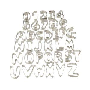 relaxdays Plätzchen Ausstecher Buchstaben   Zahlen