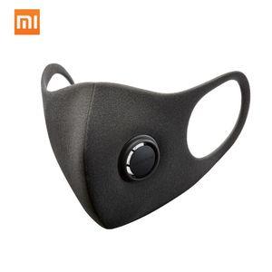 Xiaomi Smartmi Anti-Pollution Air Sport Gesichtsmaske Atemschutzmasken Block PM2.5 Haze Anti-Haze Einstellbare Ohrhänger 3D-Design Komfortabel mit Belüftungsventil(Größe M)