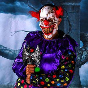 Horror Clown Maske Clownsmaske Latexmaske Zombie Maske Scream Halloween Clownmaske