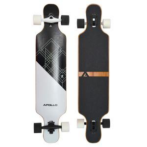 "Apollo Fiberglas Longboard ""Samoa"" Twin Tip DT Komplettboard 109 x 24 cm 5 Lagen (3 Holz / 2 Fiberglas)"
