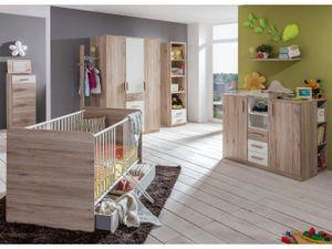 Babyzimmer Cariba in Eiche San Remo und Weiß