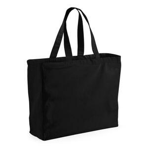 Westford Mill Canvas Classic Einkaufstasche, 26 Liter (2 Stück/Packung) BC4543 (Einheitsgröße) (Schwarz)
