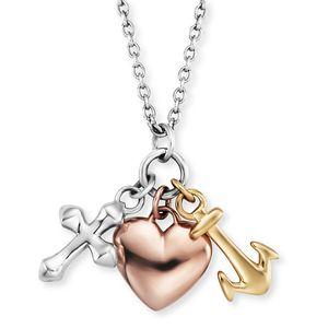 Engelsrufer ERN-FLH-TRICO Halskette-Anhänger Glaube Liebe Hoffnung Silber