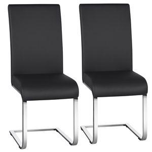 Yaheetech Esszimmerstühle 2er Set Freischwinger stühle schwingstuhl