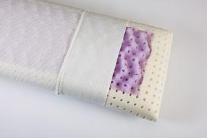 Relaxsan Orthopädisches Nackenkissen aus Visko-Schaum (Memory Foam) - Nacken stützendes Visco-Kopfkissen 40x80-11cm hoch - Kissen inkl. waschbarer Kissenbezug (Malve Breathe)