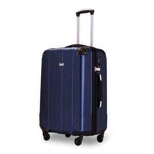 Hartschalen-Reisekoffer Wagenkoffer Trolley Spinner Case mit TSA-Schloss und Griffen,Blau, L
