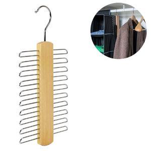Krawattenhalter, Buche/Metall verchromt