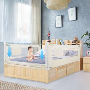 200cm Bettschutzgitter Bettgitter Kinderbettgitter Sicherheitsbettgitter Babybett Faltbare Gitter