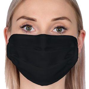 5x Behelfs- Mundschutz & Nasenmaske waschbar Mundmaske Gesichtmaske Mundbedeckung Stoffmaske aus Baumwolle SCHWARZ