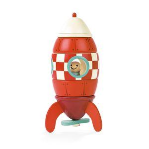 JANOD Magnetbausatz Rakete Stapelspielzeug Spielzeug Kleinkinder