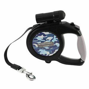 8M Flexileine Hundeleine Gurtleine Rollleine Automatikleine Einziehbare mit Taschenlampe Seilleine Rollleine 50KG Hund mit 9 LED Licht