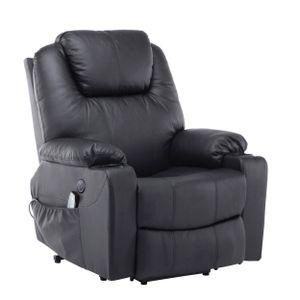 MCombo Elektrisch Aufstehhilfe Fernsehsessel Relaxsessel Massage Heizung USB 7040BK