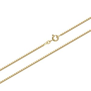 45cm Venezia echte 585 Gelbgold 14 Karat Venezianerkette 0.6mm 1,10gr Kette 9344