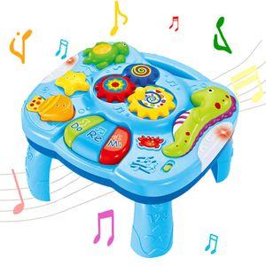 Hikeren Babyspielzeug,2 in 1 Musical Lerntisch , mit Lichtern, für Kleinkinder Kleinkind Jungen Mädchen ab 6 Monaten